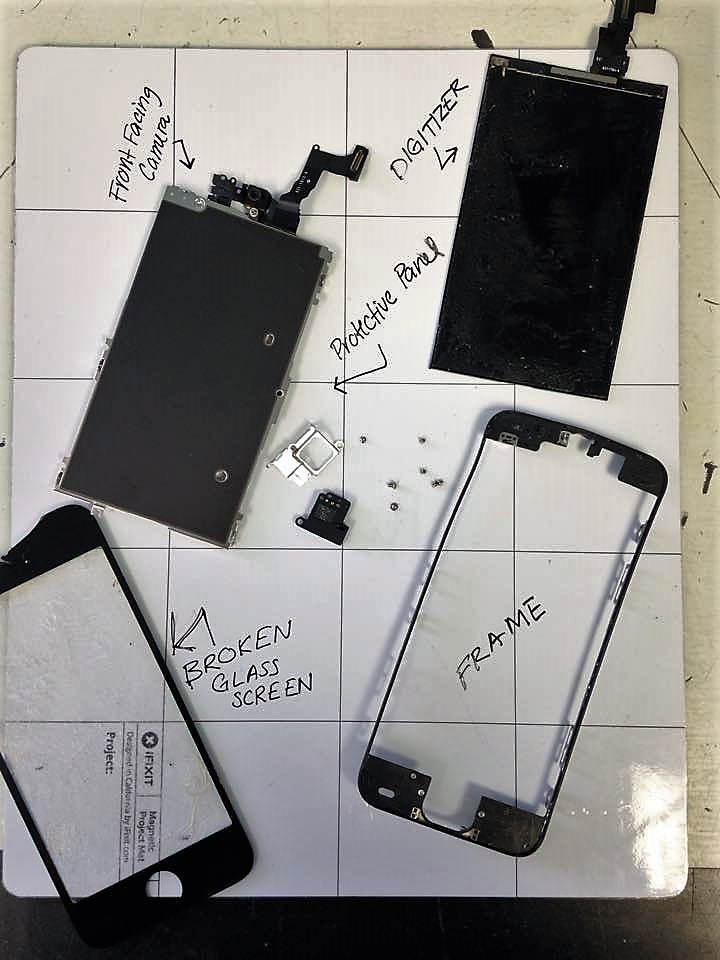 Components of an iPhone 5c Screen