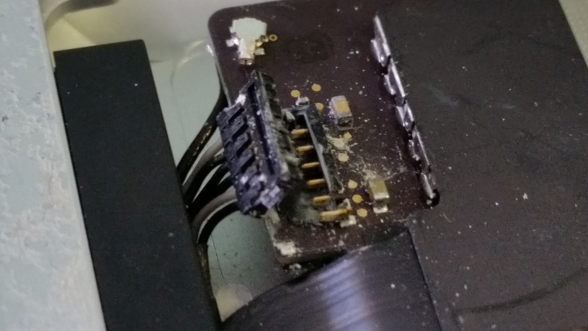 corroded connector