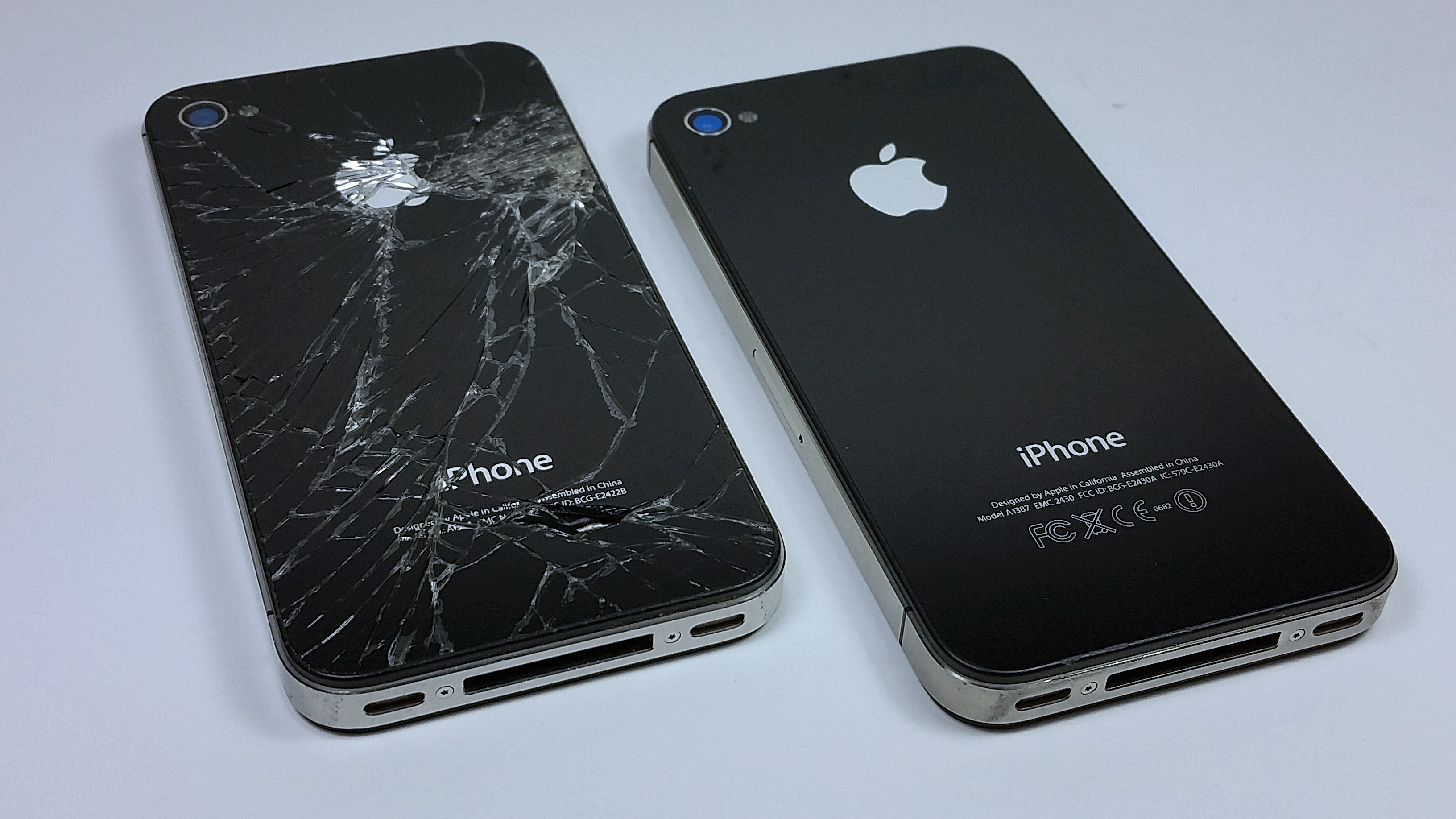 Broken Glass back phone